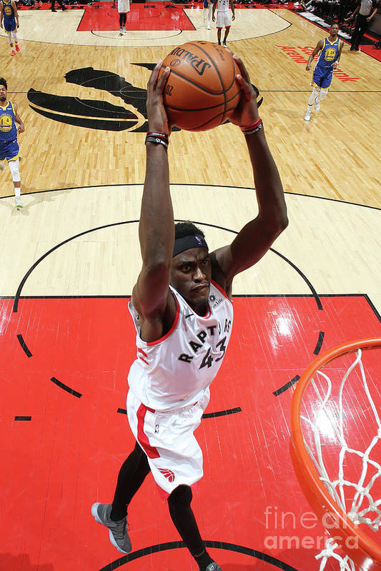 Playoffs Art Print featuring the photograph Pascal Siakam by Nathaniel S. Butler