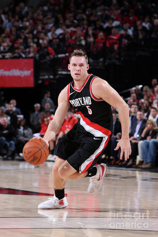 Nba Pro Basketball Art Print featuring the photograph Pat Connaughton by Sam Forencich
