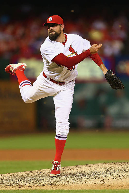 St. Louis Cardinals Art Print featuring the photograph Pat Neshek by Dilip Vishwanat
