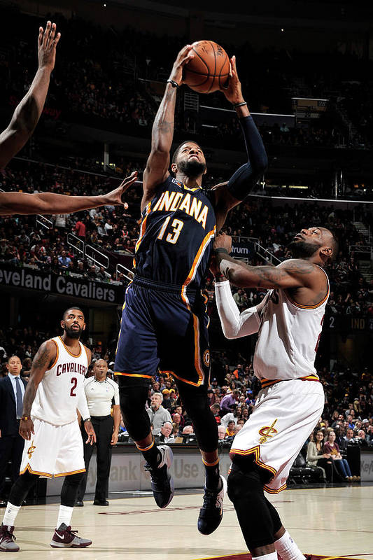 Nba Pro Basketball Art Print featuring the photograph Paul George by David Liam Kyle