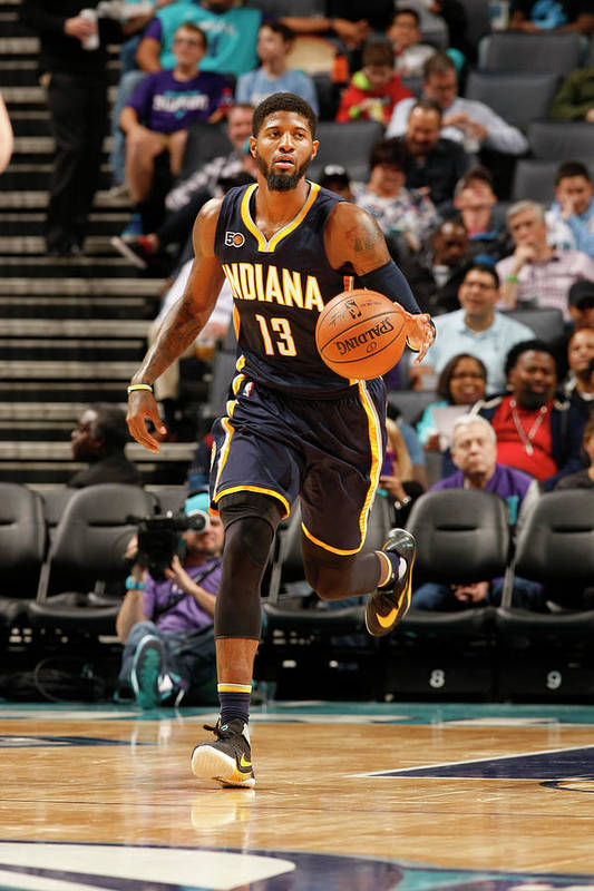 Nba Pro Basketball Art Print featuring the photograph Paul George by Kent Smith