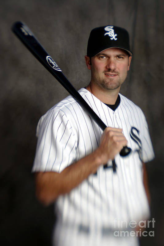 Media Day Art Print featuring the photograph Paul Konerko by Brian Bahr