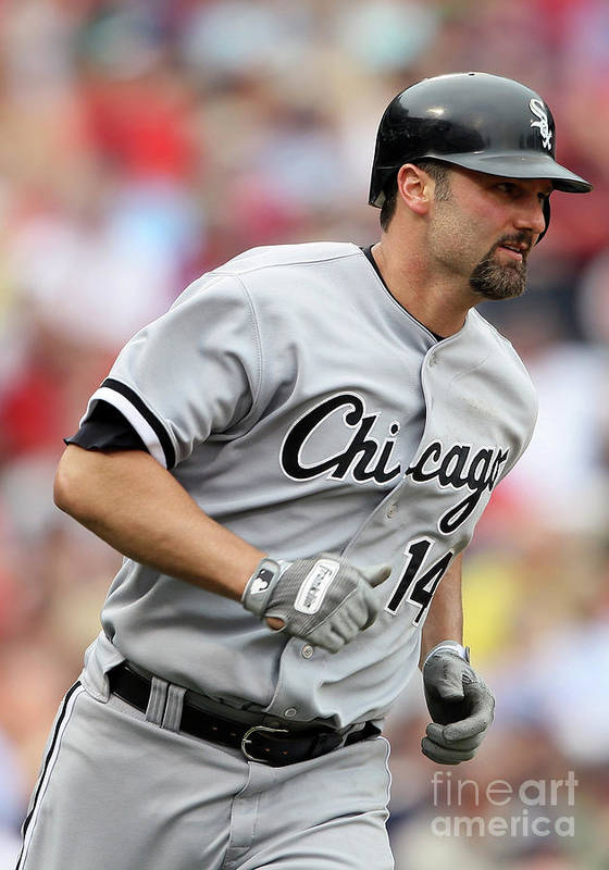 American League Baseball Art Print featuring the photograph Paul Konerko by Elsa