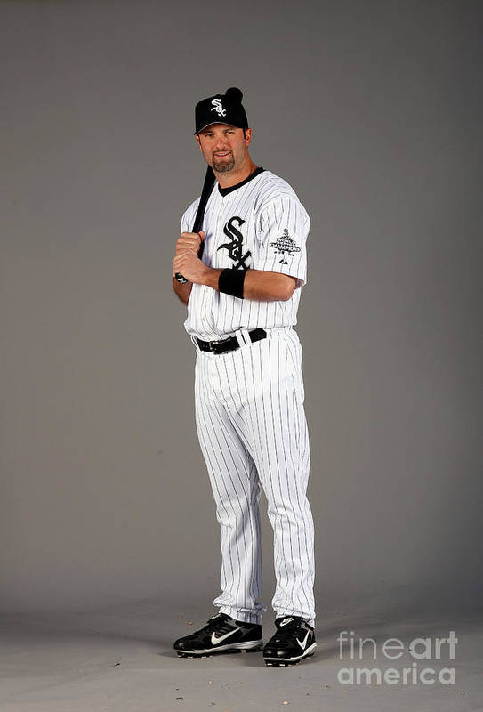 Media Day Art Print featuring the photograph Paul Konerko by Otto Greule Jr