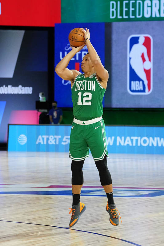 Playoffs Art Print featuring the photograph Philadelphia 76ers v Boston Celtics - Game Two by Jesse D. Garrabrant