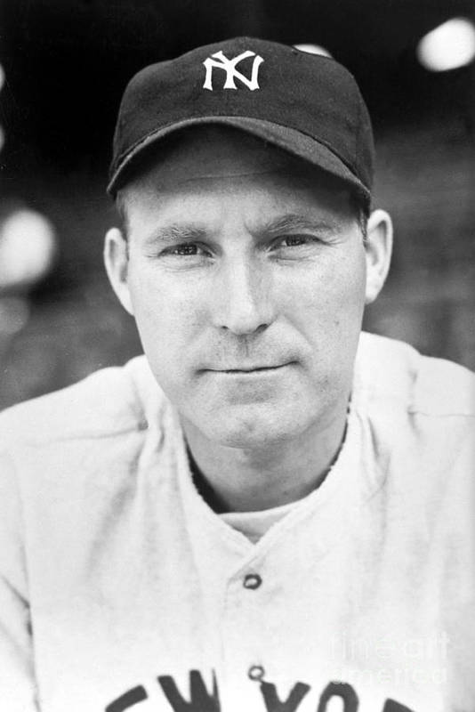 American League Baseball Art Print featuring the photograph Red Ruffing by National Baseball Hall Of Fame Library