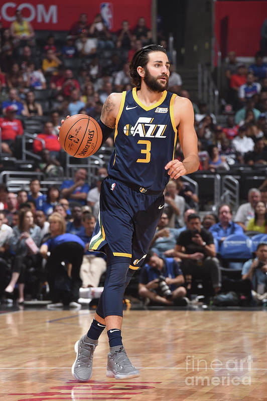 Nba Pro Basketball Art Print featuring the photograph Ricky Rubio by Andrew D. Bernstein