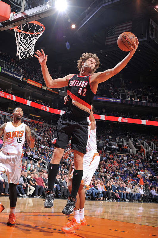 Nba Pro Basketball Art Print featuring the photograph Robin Lopez by Barry Gossage