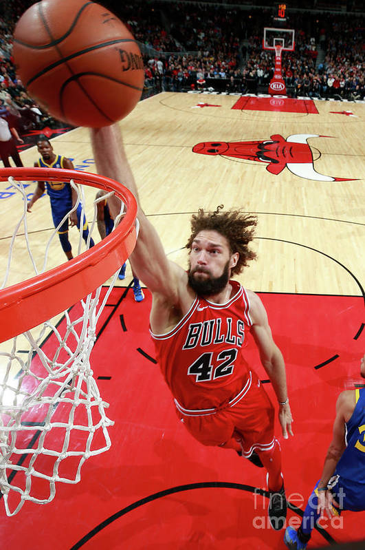Nba Pro Basketball Art Print featuring the photograph Robin Lopez by Jeff Haynes