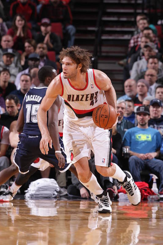 Nba Pro Basketball Art Print featuring the photograph Robin Lopez by Sam Forencich