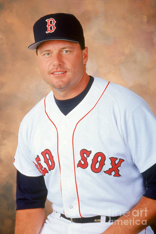 American League Baseball Art Print featuring the photograph Roger Clemens by Mlb Photos