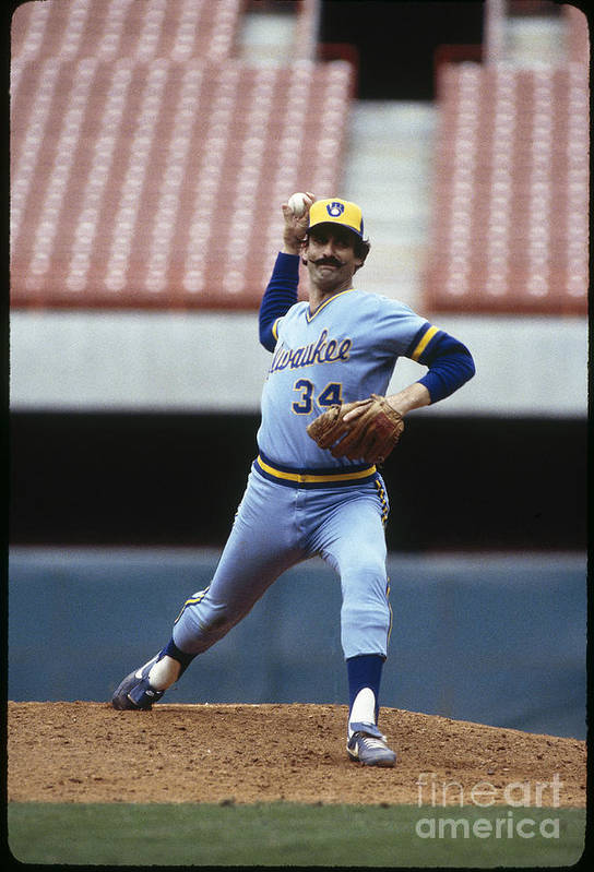 1980-1989 Art Print featuring the photograph Rollie Fingers by Rich Pilling