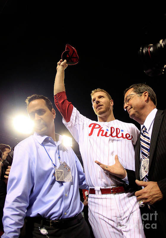 Crowd Art Print featuring the photograph Roy Halladay by Chris Trotman