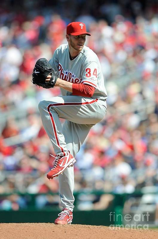 Baseball Pitcher Art Print featuring the photograph Roy Halladay by G Fiume