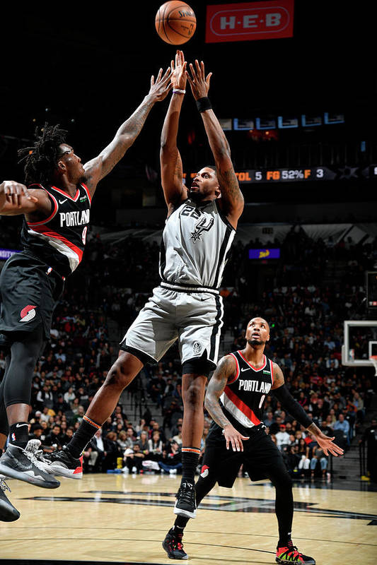 Nba Pro Basketball Art Print featuring the photograph Rudy Gay by Logan Riely