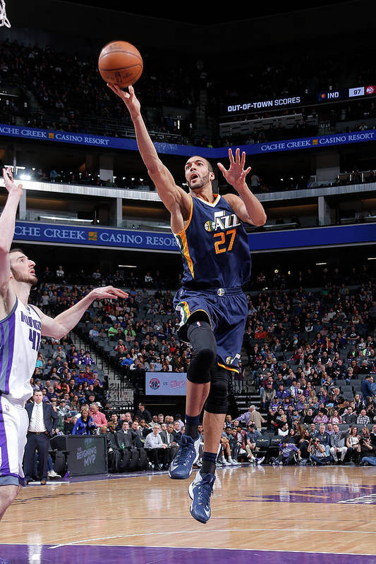 Nba Pro Basketball Art Print featuring the photograph Rudy Gobert by Rocky Widner
