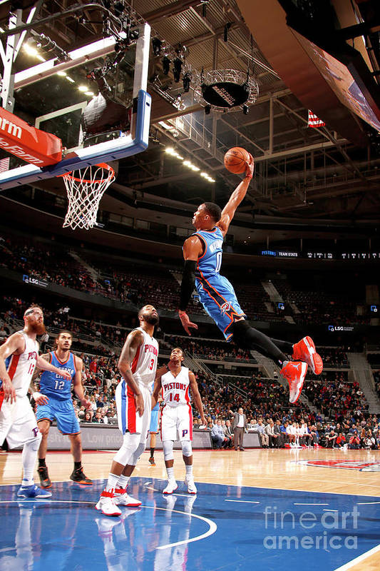 Nba Pro Basketball Art Print featuring the photograph Russell Westbrook by Brian Sevald