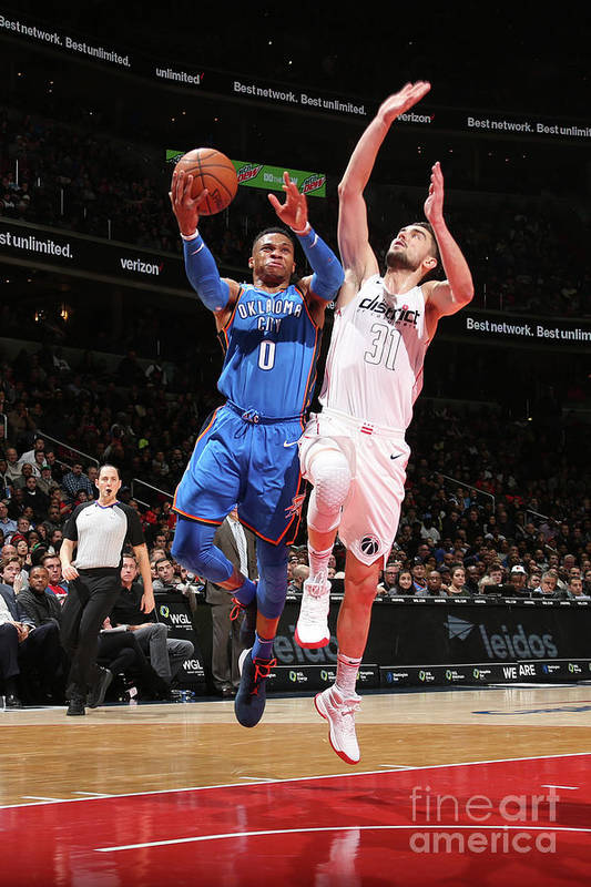 Nba Pro Basketball Art Print featuring the photograph Russell Westbrook by Ned Dishman