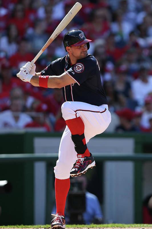 Ryan Zimmerman - Baseball Player Art Print featuring the photograph Ryan Zimmerman by Patrick Smith