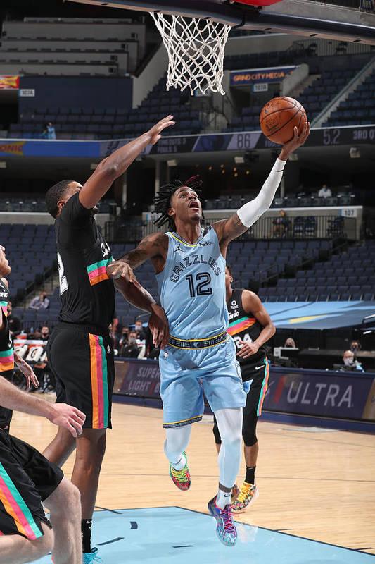 Nba Pro Basketball Art Print featuring the photograph San Antonio Spurs v Memphis Grizzlies by Joe Murphy