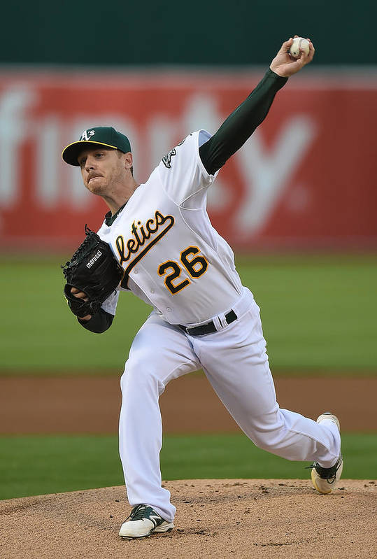 American League Baseball Art Print featuring the photograph Scott Kazmir by Thearon W. Henderson