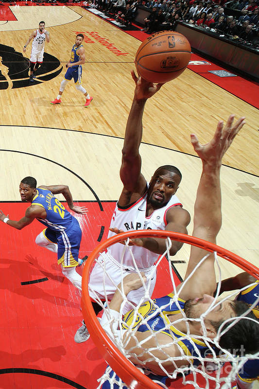 Playoffs Art Print featuring the photograph Serge Ibaka by Nathaniel S. Butler