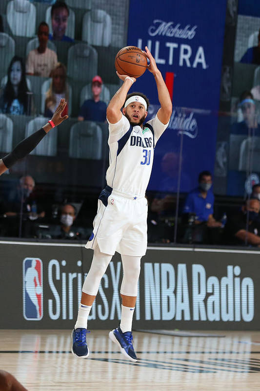 Playoffs Art Print featuring the photograph Seth Curry by David Sherman