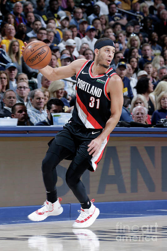 Nba Pro Basketball Art Print featuring the photograph Seth Curry by Ron Hoskins