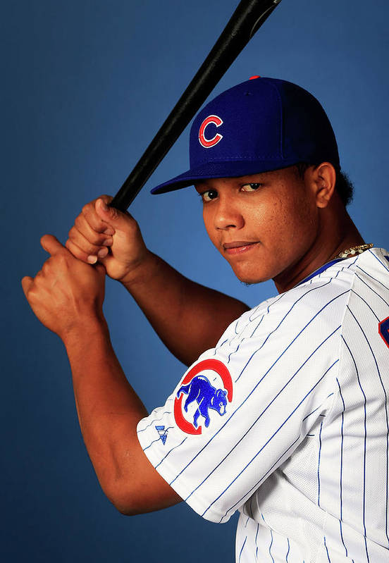 Media Day Art Print featuring the photograph Starlin Castro by Jamie Squire