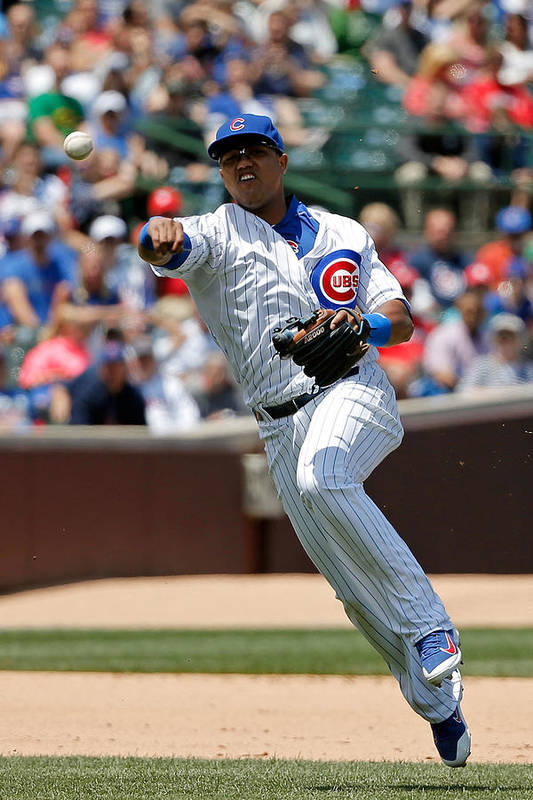 People Art Print featuring the photograph Starlin Castro by Jon Durr