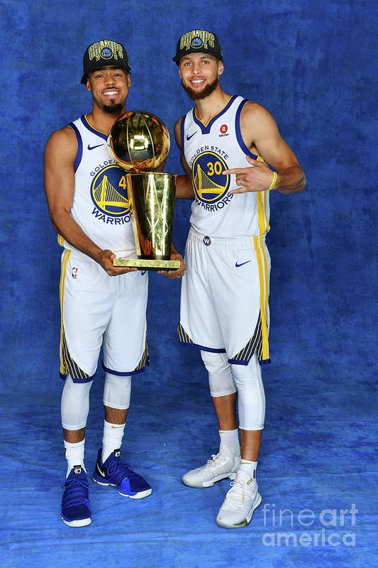 Playoffs Art Print featuring the photograph Stephen Curry and Quinn Cook by Jesse D. Garrabrant
