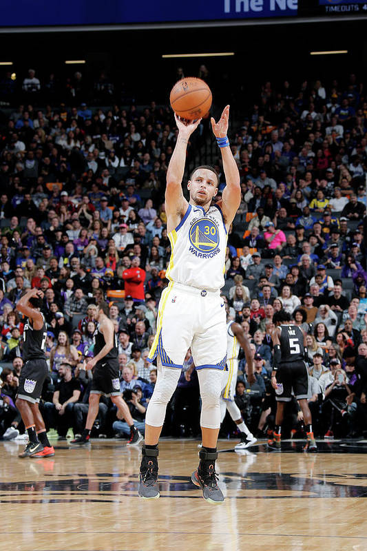 Nba Pro Basketball Art Print featuring the photograph Stephen Curry by Rocky Widner