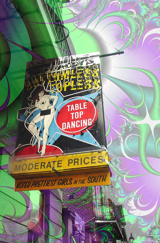 New Orleans Art Print featuring the photograph Table Top Dancing by Linda Kish