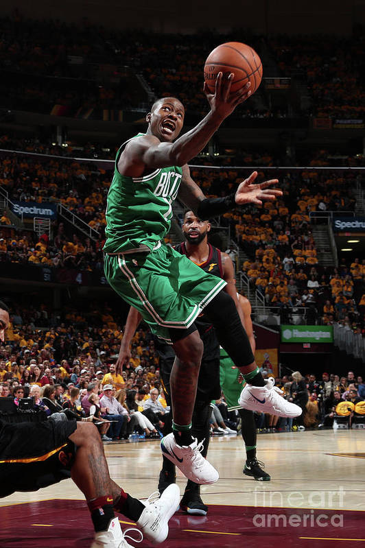 Playoffs Art Print featuring the photograph Terry Rozier by Nathaniel S. Butler