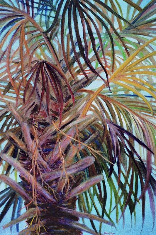 Palm Tree Art Print featuring the painting The Palm by Ben Kiger