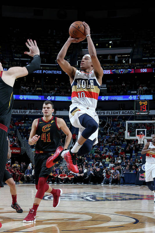 Smoothie King Center Art Print featuring the photograph Tim Frazier by Layne Murdoch Jr.