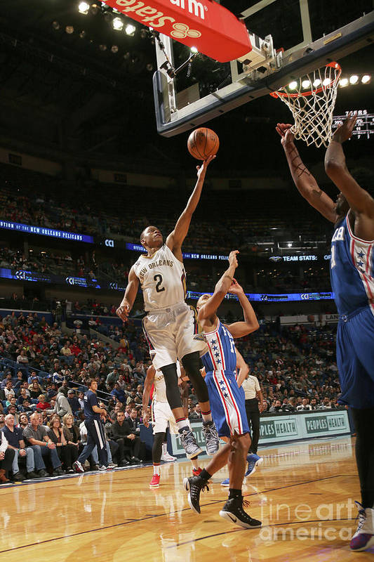 Smoothie King Center Art Print featuring the photograph Tim Frazier by Layne Murdoch