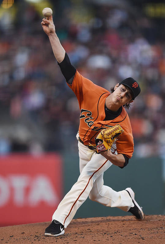 San Francisco Art Print featuring the photograph Tim Lincecum by Thearon W. Henderson