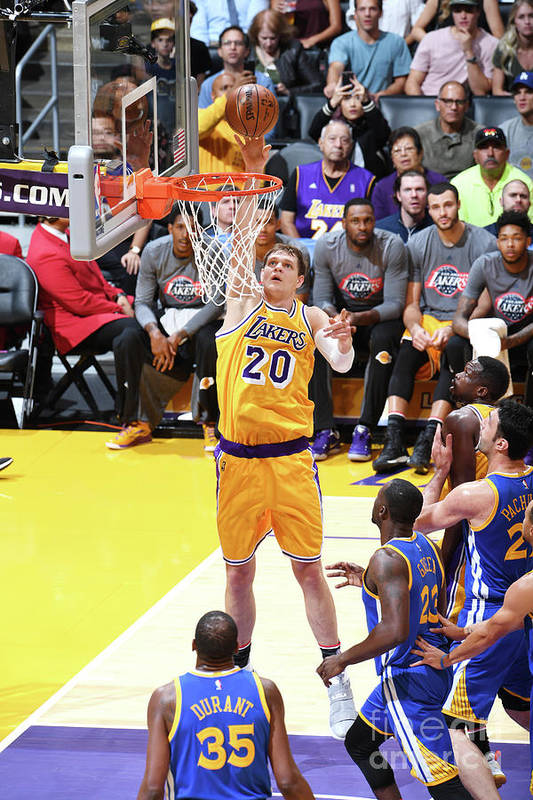 Nba Pro Basketball Art Print featuring the photograph Timofey Mozgov by Aaron Poole
