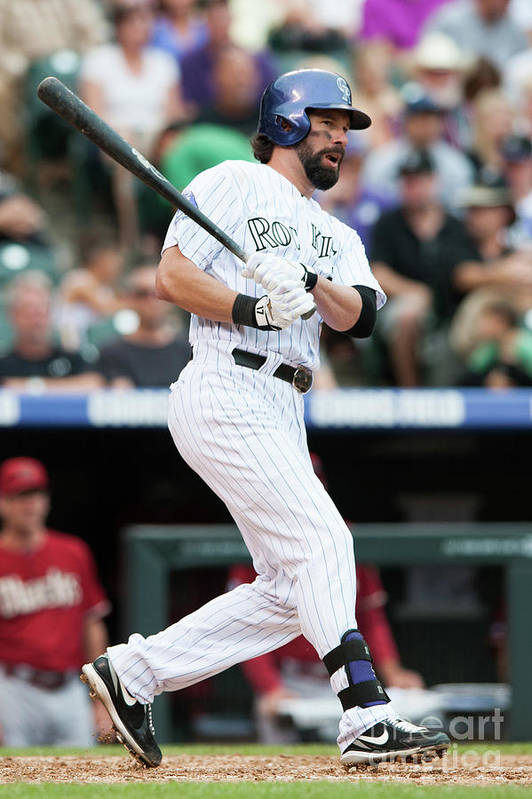 Todd Helton Art Print featuring the photograph Todd Helton by Dustin Bradford