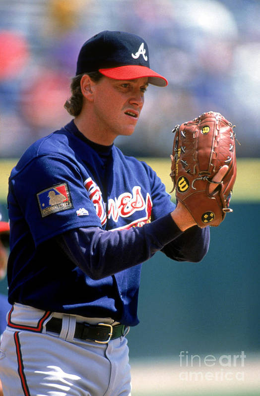 Baseball Pitcher Art Print featuring the photograph Tom Glavine by Don Smith