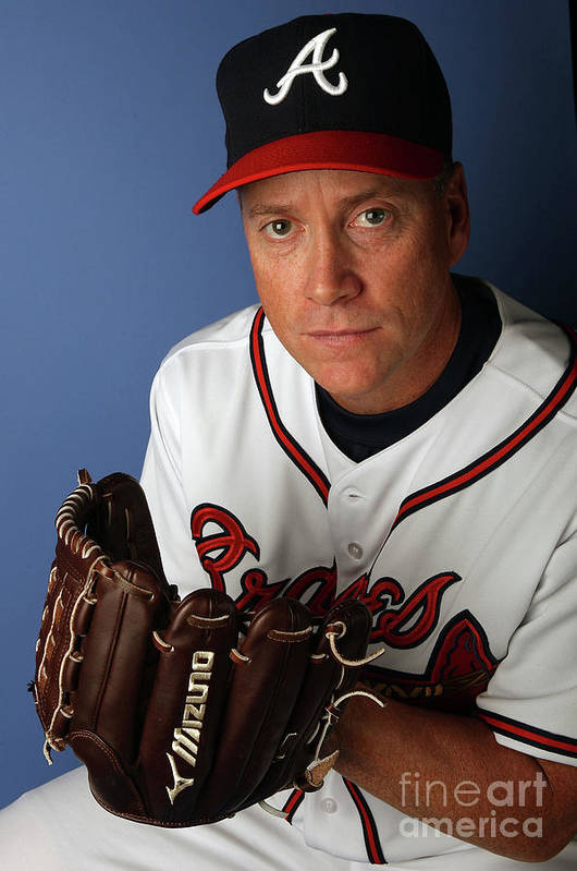 Media Day Art Print featuring the photograph Tom Glavine by Elsa