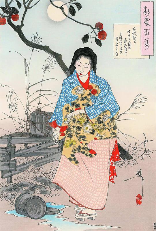 Tsukioka Art Print featuring the painting Top Quality Art - ADACHI CHIYONO by Tsukioka Yoshitoshi