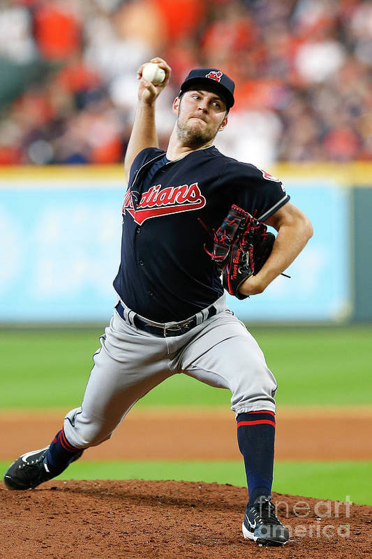 Game Two Art Print featuring the photograph Trevor Bauer by Tim Warner