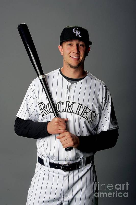 Media Day Art Print featuring the photograph Troy Tulowitzki by Matthew Stockman