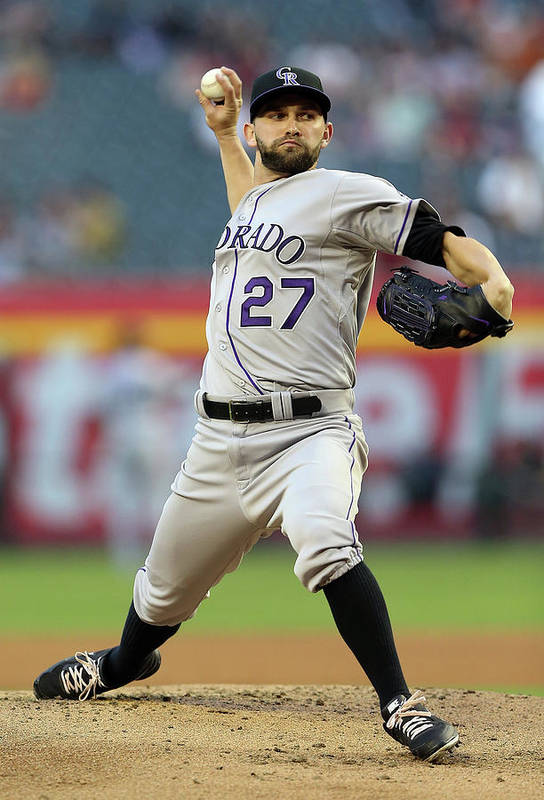Baseball Pitcher Art Print featuring the photograph Tyler Chatwood by Christian Petersen