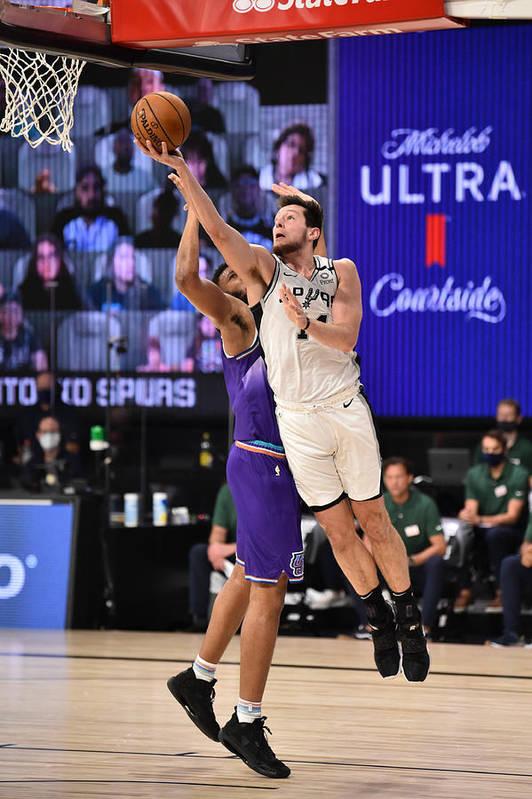 Nba Pro Basketball Art Print featuring the photograph Utah Jazz v San Antonio Spurs by David Dow