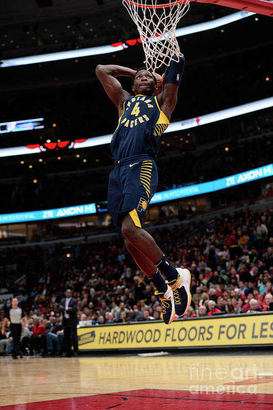Nba Pro Basketball Art Print featuring the photograph Victor Oladipo by David Dow