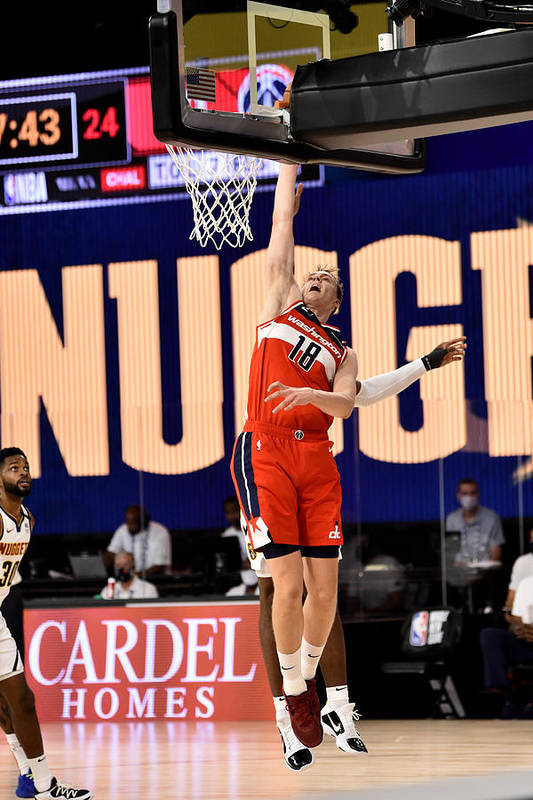 Nba Pro Basketball Art Print featuring the photograph Washington Wizards v Denver Nuggets by David Dow