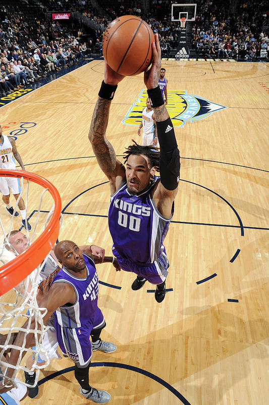 Nba Pro Basketball Art Print featuring the photograph Willie Cauley-stein by Garrett Ellwood